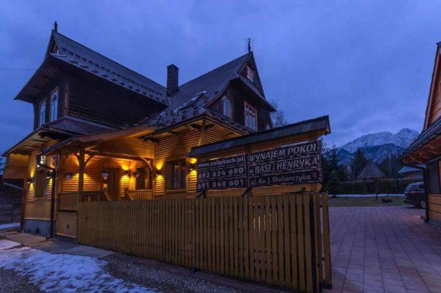 Willa I Na Lipkach, dom nocą